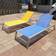 Wholesale folding portable outdoor pool sun beach chair chaise Garden metal furniture sun lounge parts chairs aluminium lounger