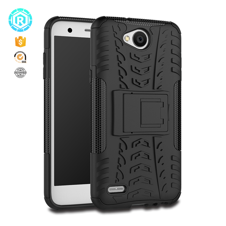 wholesale stock goods shockproof TPU rugged cover case for lg X power2 stand case