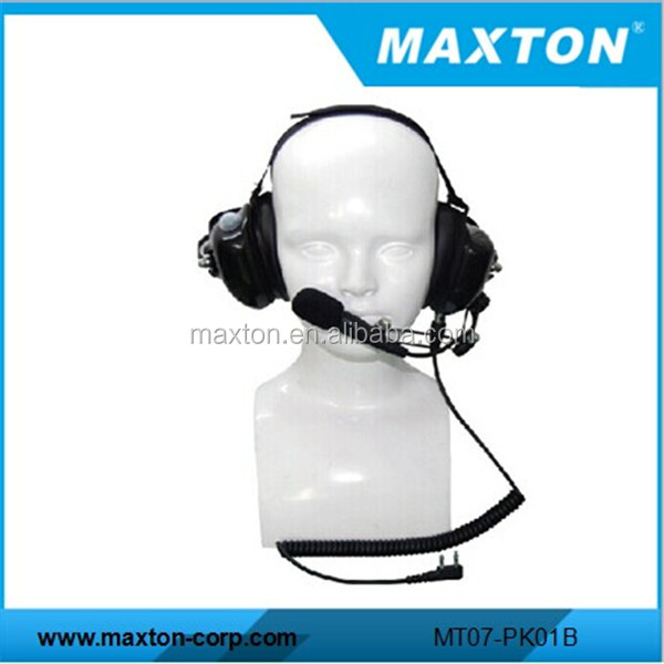 Maxton good quality aviation use noise cancelling headset for Kenwood walkie talkie TK-2118 TK-2201