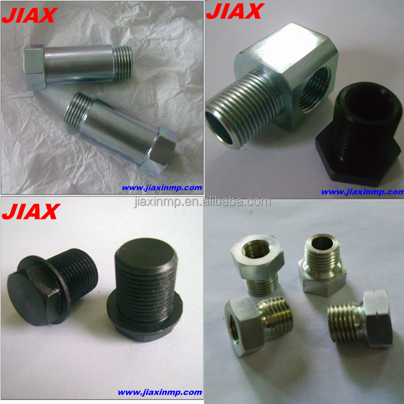 OEM ODM mild steel adaptor parts, angle adaptor fittings,cnc intersex adapter for DIY