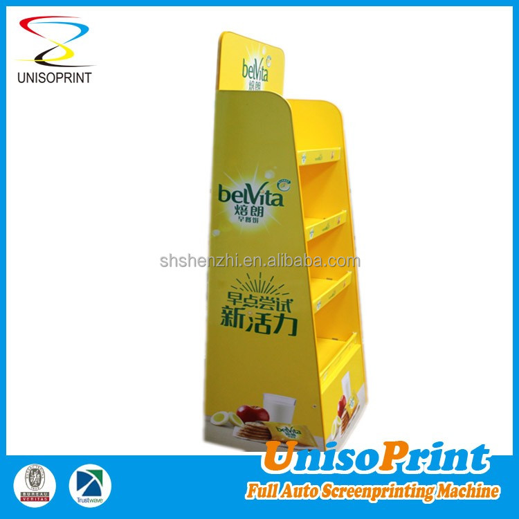 custom retail tray carton floor display stand