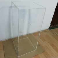 Factory Wholesale Acrylic Clear Plinth Tall Square Acrylic Wedding Pedestal