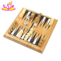 wholesale cheap educational game wooden backgammon board for children W11A070