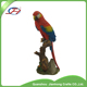 polyresin resin artificial bird parrot poll parrot popinjay on wood tree statues figurines for outdoor garden decoration