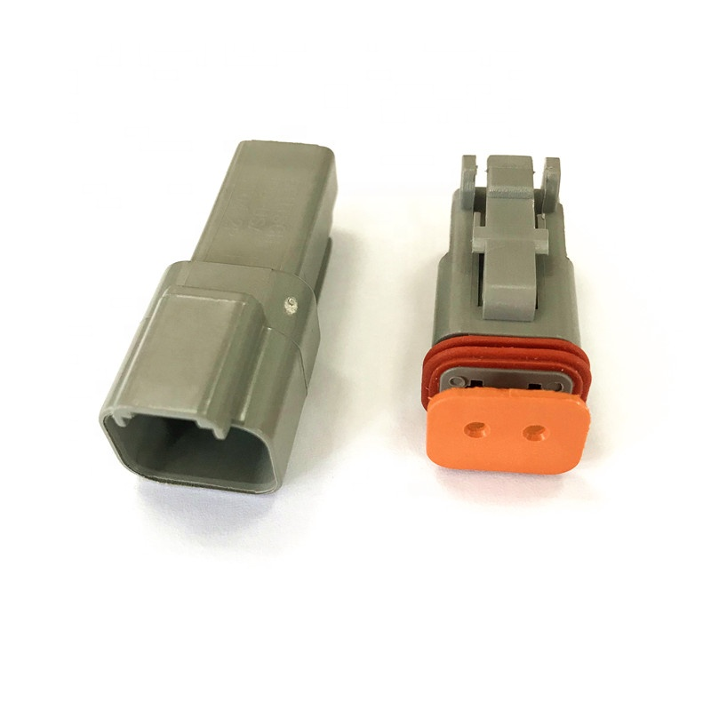 factory stock Deutsch 2 pin PA66 waterproof plug automotive connector DT04-2P and DT06-2S