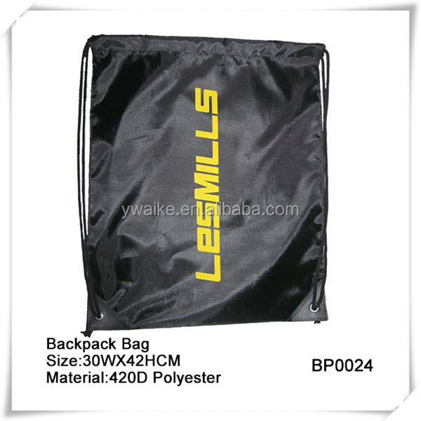 Promotional Nylon Drawstring Bag,Backpack With Reinforced PU Corners