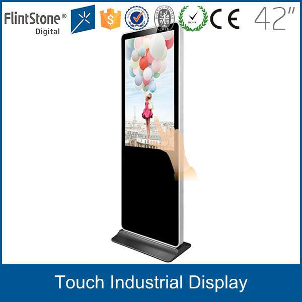 "Flintstone free standing /wall mounted 42"" i robot android tablet pc touch screen"