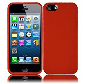 Importer520 Rubberized Snap-On Hard Skin Protector Case Cover For Apple iPhone 5S / 5 - Orange
