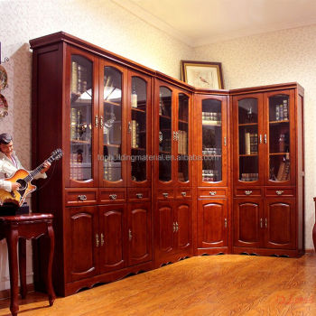Free shipping bookcase with glass door models