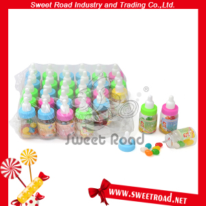 Colorful Soft Jelly Bean in Nipple Bottle Shrink PVC Tray