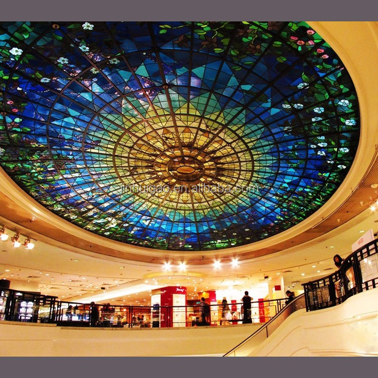 Custom Design Stained Gl Dome Skylight Roof For House