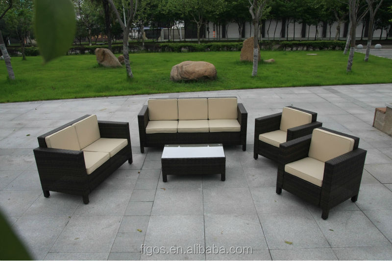 cheap outdoor wicker furniture rattan sofa