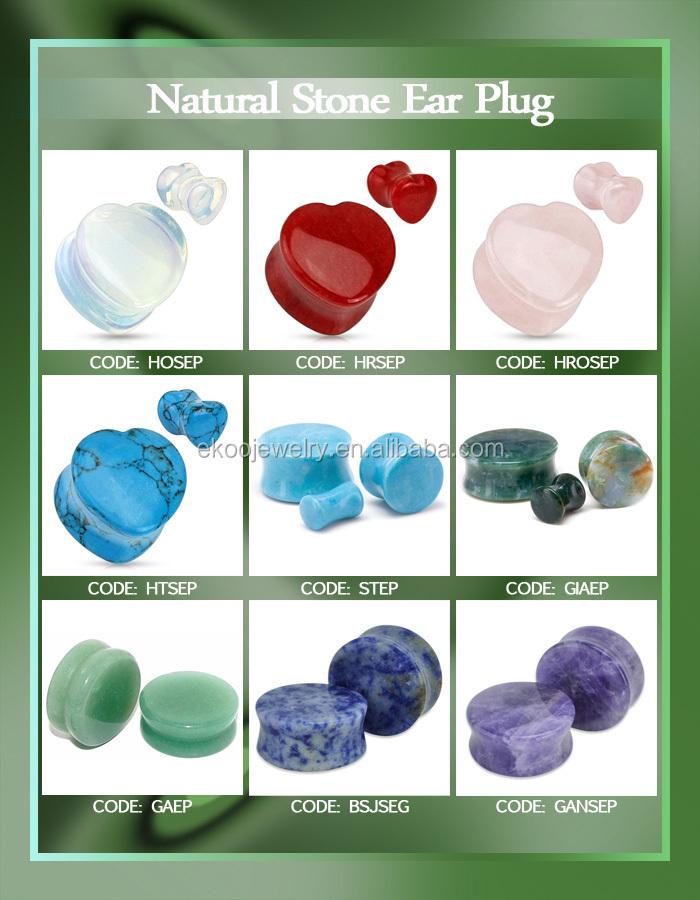 New Design Natural Stone Ear Plug - Buy Stone Ear Plug,Natural ...