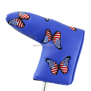 Club head cover type US flag golf club putter head cover