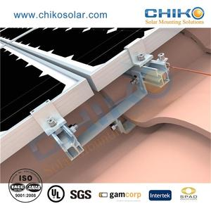 Factory direct solar mid / end clamp for solar mounting system with ISO Certification
