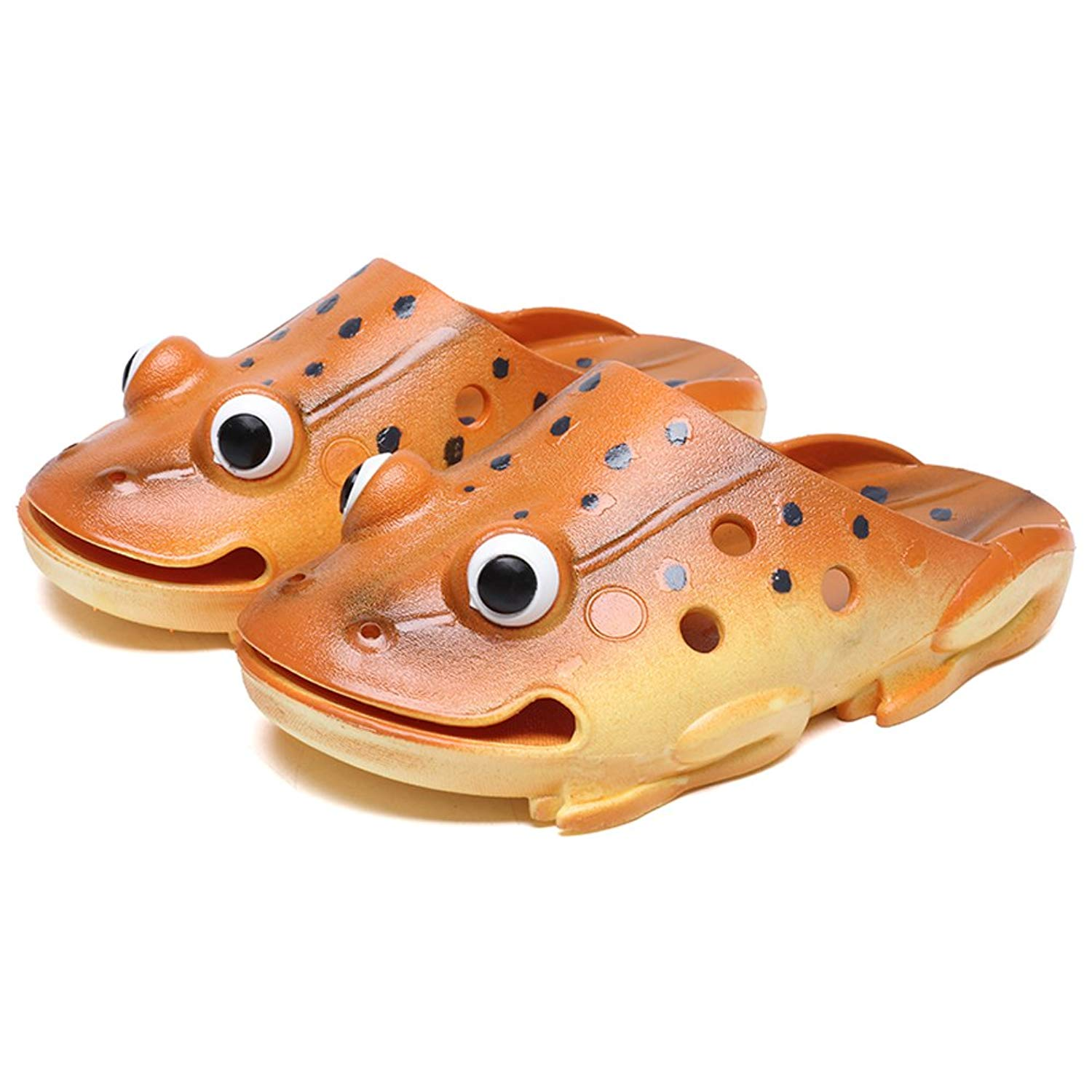 dbb5e0f78 Get Quotations · Frog Animal Slippers Boys Girls Summer Beach Water Sandals  Funny Shower Slippers for Pool Camp Gym