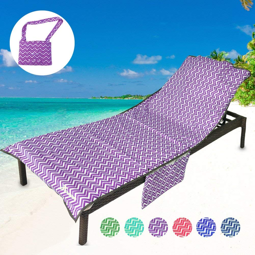 Get Quotations · YOULERBU Beach Chair Cover With Pillow Soft Mesh Fabric  Thickened Pool Lounge Chair Towel Beach Towel