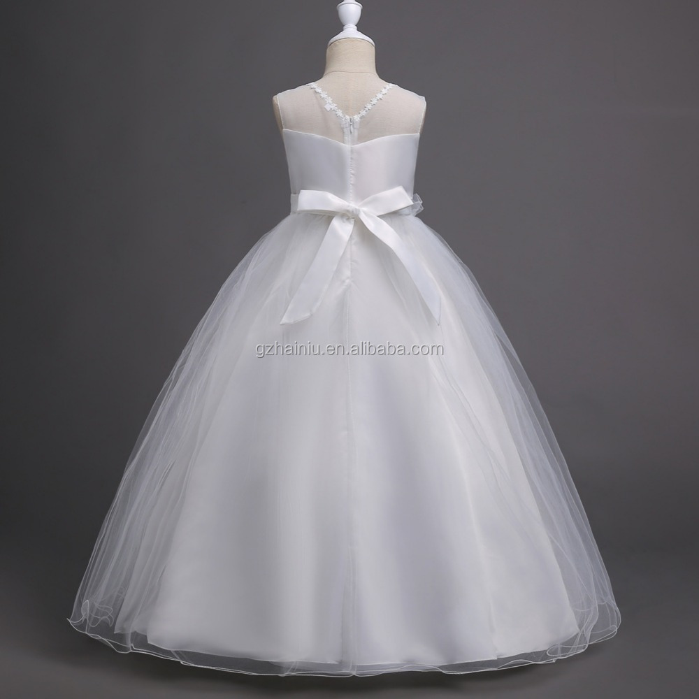 b841fd07f Embroidery Flower Girl Dresses