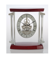 K3046 Wooden Skeleton Clock for Business Souvenir