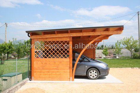 Moderna casa de verano moderno casas de madera barato wpc - Pergola para coche ...