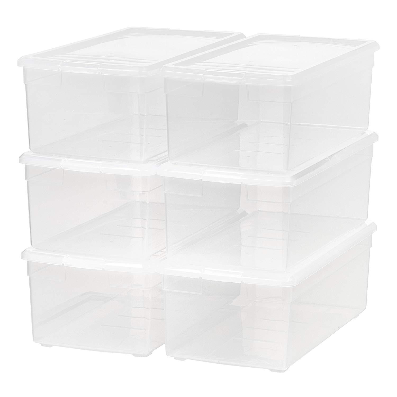 IRIS Media Storage Box, 6 Pack, Clear