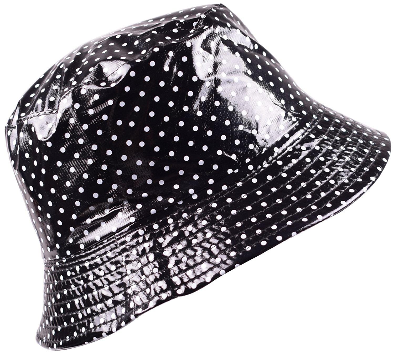 1d7ae77e354 Get Quotations · YJDS Rain Hats Bucket Rain Hat Womens Waterproof Bucket Hat  Women Packable Hats Lady