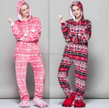 2b0b05d60122 Snowflake Snowman Onesie Pajamas Funny Christmas Onesie For Adults ...