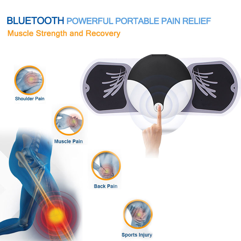 Wireless Bluetooth powerful portable pain relief muscle strength recovery tens ems smart <strong>massager</strong>