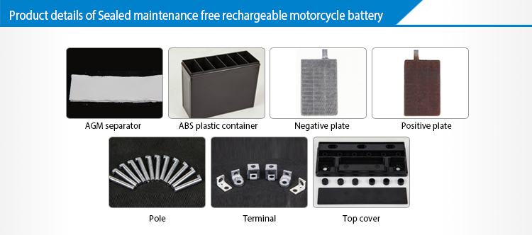 Small 12 Volt Battery Motorcycle 6.5ah Rechargeable Battery For Hot Sale