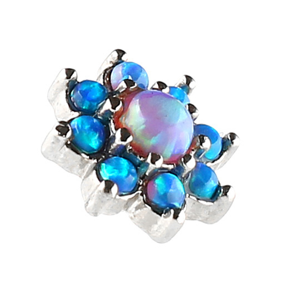 Dermal Jewelry with Opal Stone 316L surgical steel dermal top piercing jewelry