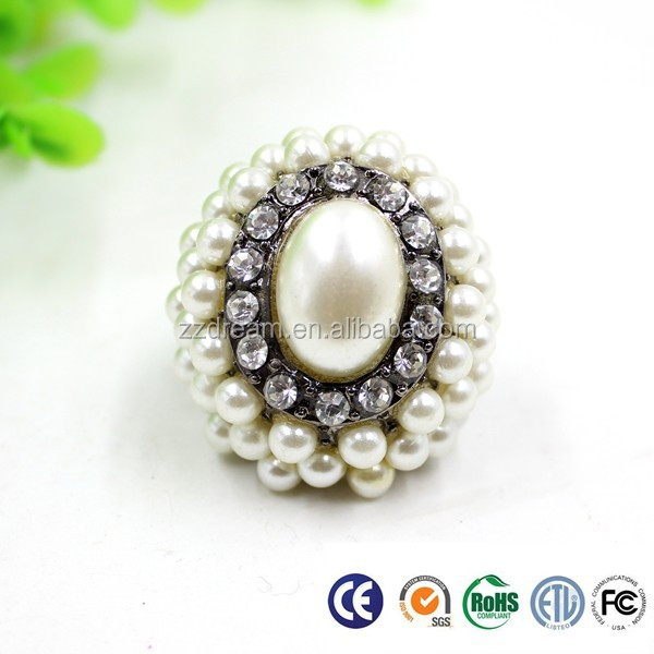 2015 Hot Sale Charming Women Pearl Bead Ring