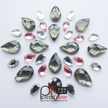 chaton wholesale acrylic accessories crystal point back rhinestone