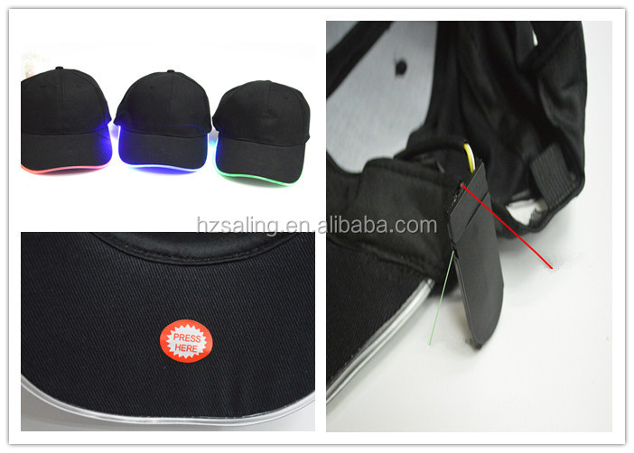 Factory Direct Sale Products Fashion Custom LED Flashing Cooling Baseball Cap