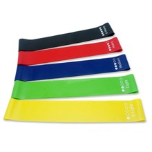 Wholesale Colorful Rubber Fitness Stretch 4pcs Resistance Loop Band Set