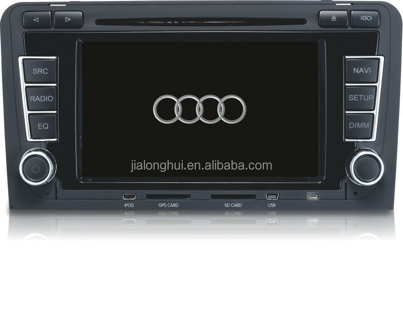 Car Factory Original Hot selling Car DVD Player winCE gps navigation for Audi A3 BT USB iPod 3G WIFI CANBUS