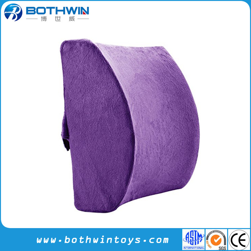Memory Foam Backrest Support Back Pain Relief Office Chair Car Seat Purple Sitting Cushion