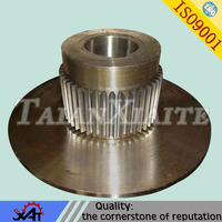 High precision gear wheel,reliable quality,alloy steel forging,mine machinery parts,heat treating,OEM service.