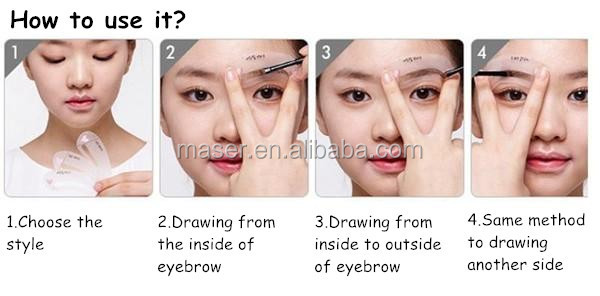 Cosmetic Tools Brow Guide Plastic Eyebrow Stencilsmicropigmentation