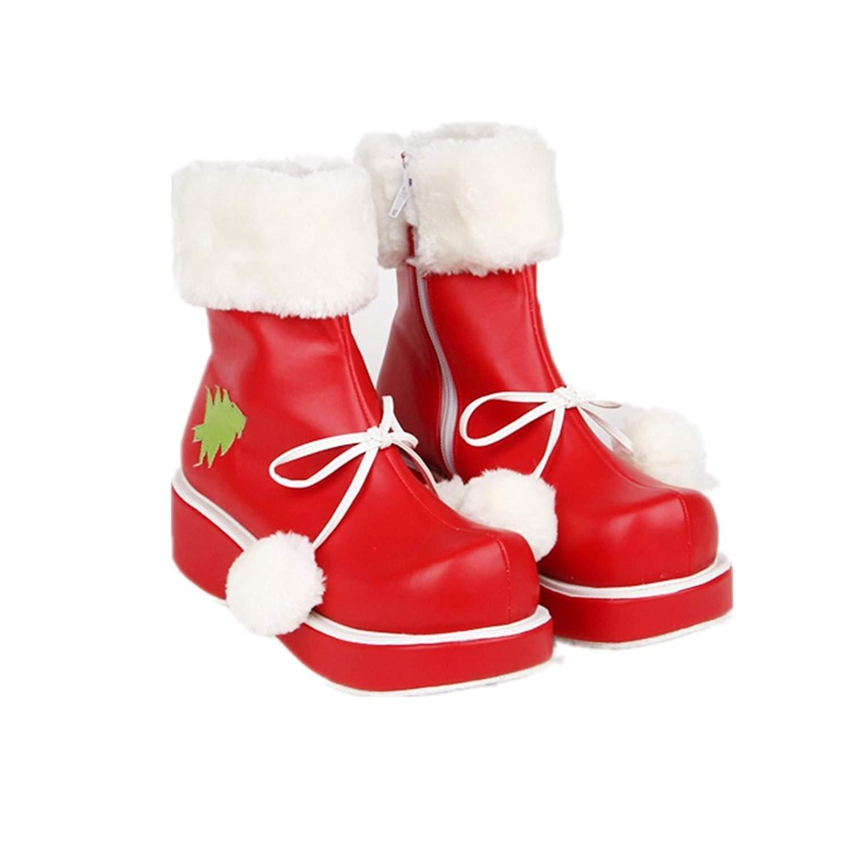 Veribuy Custom Christmas Sweet Lolita Princess Shoes Cute Party Dress Shoes Cosplay Shoes