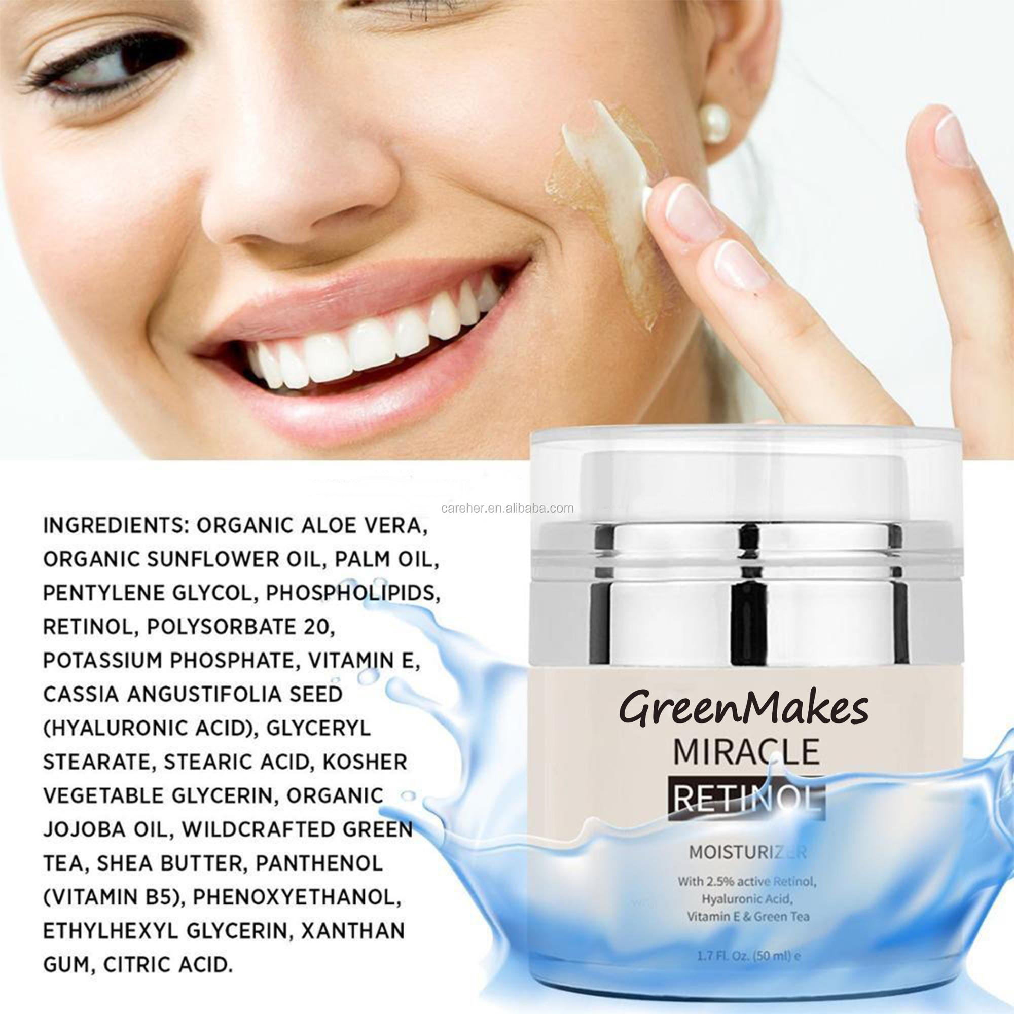 Private label anti aging face cream retinol cream with Vitamin face whitening cream