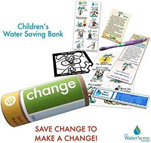 Children's Fun Water Bank Saving Eco-kit| Change | Bank on Savings! Water Conservation Ideas.