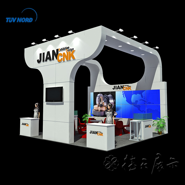 Exhibition Stand Reception Desk : Exhibition booth with used reception desk trade show