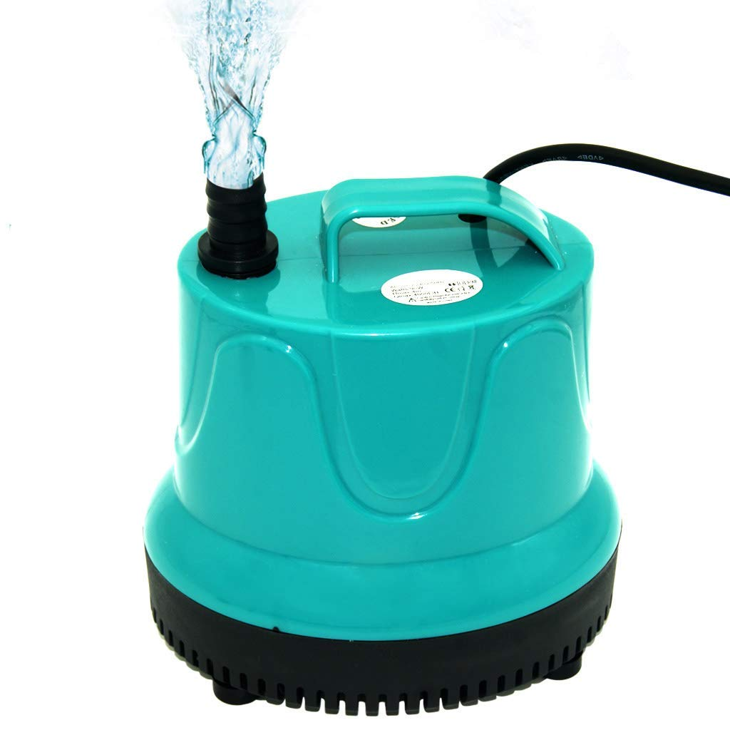 Boxtech Aquarium Submersible Water Pump - Ultra Quiet Mini Powerful Fountain Pump for Aquarium Fish Tank, Pond, Rockery and Hydroponics with 2 Nozzles