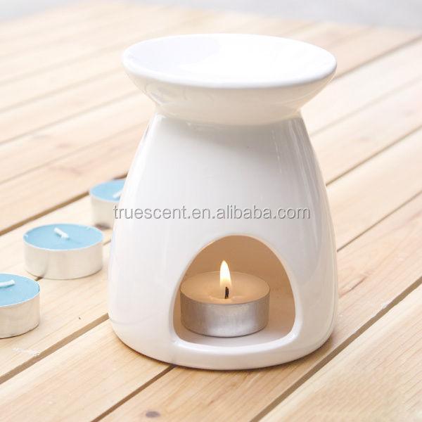 White Ceramic Melts Burner Christmas Candle Wax Warmer Ts
