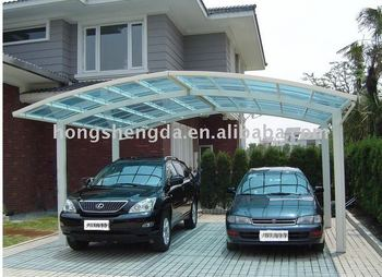 steel structure polycarbonate hollow coated car shed/canopy/garage NEW! & Steel Structure Polycarbonate Hollow Coated Car Shed/canopy/garage ...
