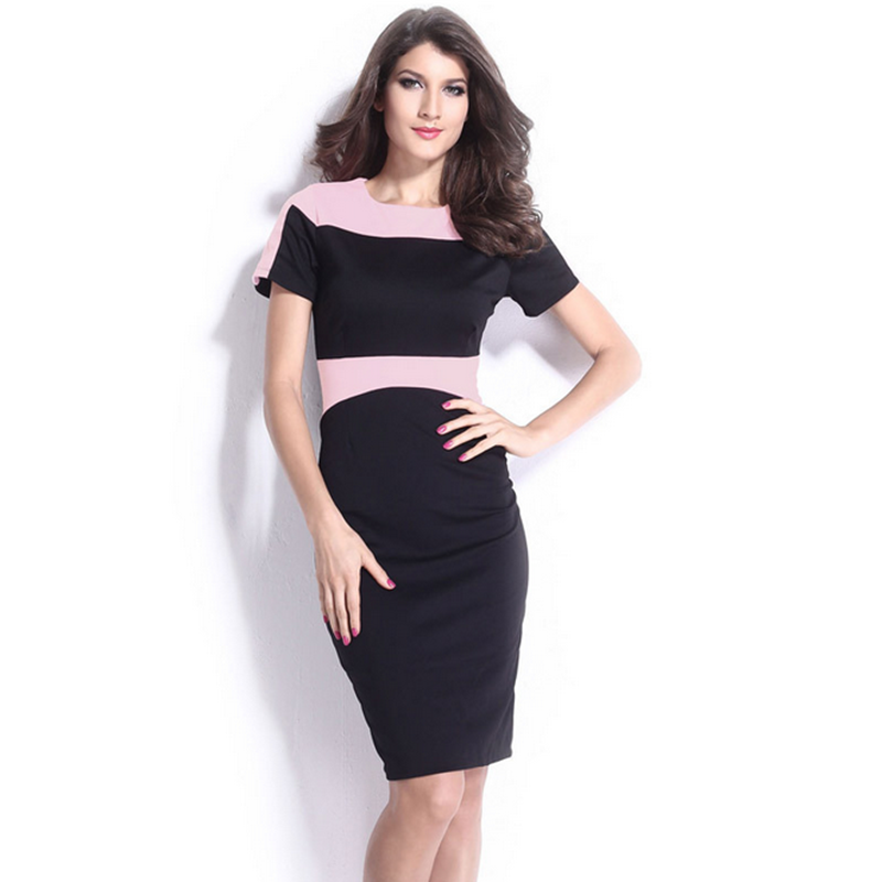 OEM services polyester combination short sleeve bodycon gown ball pink sexy muslim women dress