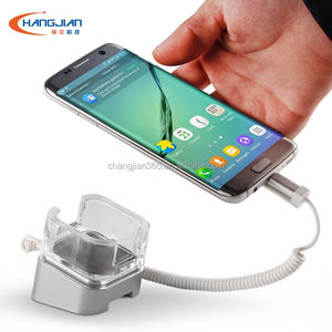 For samsung galaxy note htc Lg Acrylic cell phone alarm display stand  security holder for iphone 7 7plus huawei
