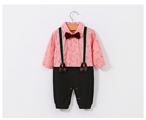 A gentleman style kids clothing baby clothes romper toddler clothing baby clothes infant romper
