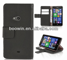 For black Nokia lumia 625 wallet leather case high quality factory's price