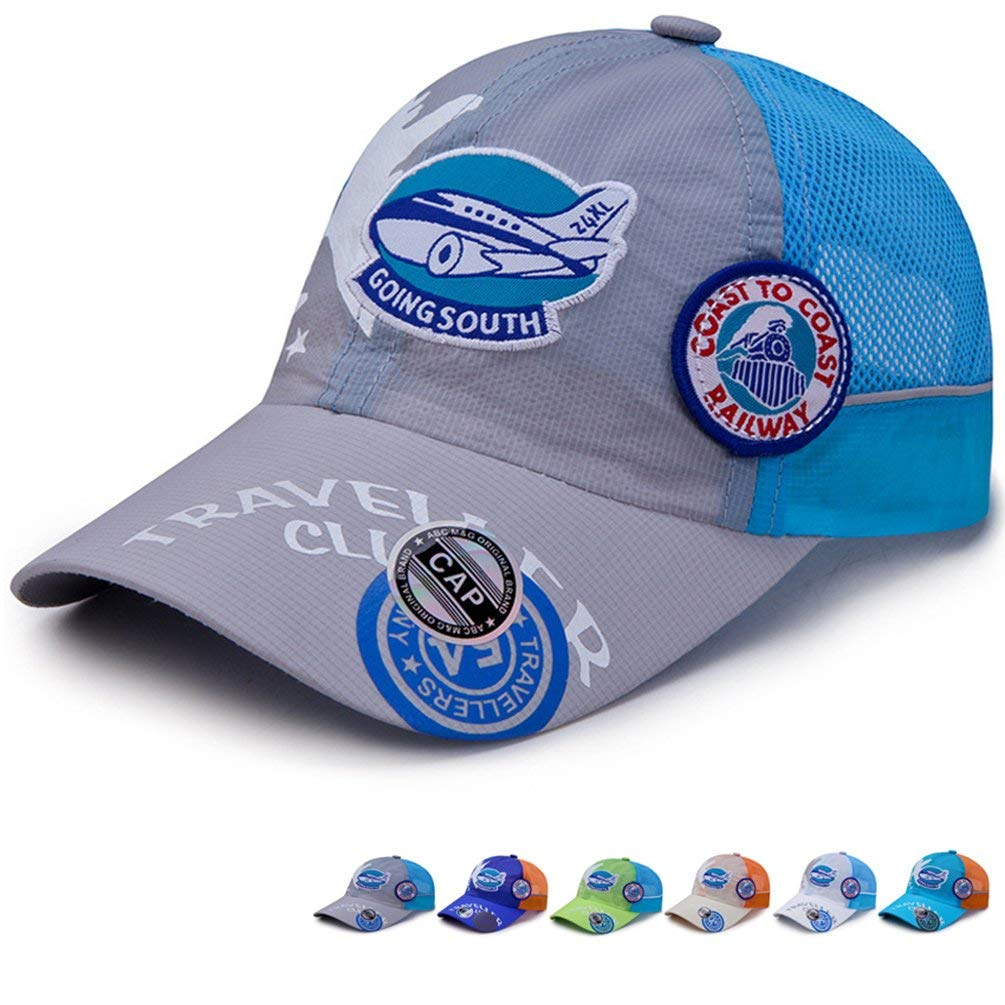 Kids Quick Drying Lightweight Baseball Caps | Outdoor Breathable Quick Drying Sun Protection Hat Airy Mesh Hat
